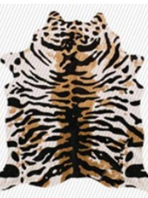 tigre fundo marrom e branco